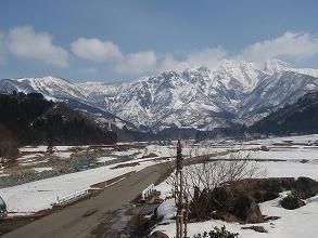 岡寮から見た八海山スキー場
