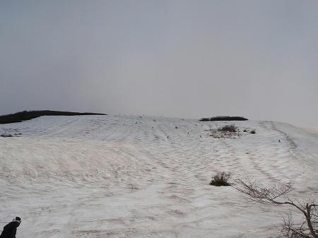 月山スキー場のこぶ斜面