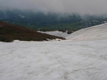 月山スキー場沢コース