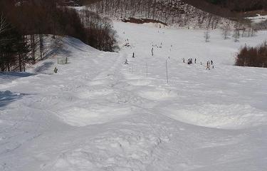 高畑スキー場モーグルコース上から
