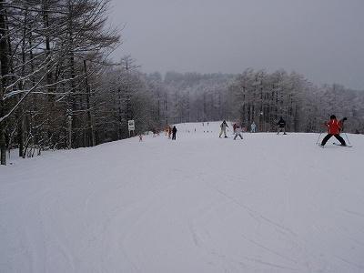 エーデルワイススキー場フラットな緩斜面