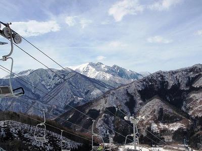 スキー場から見た谷川連峰