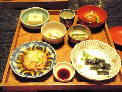 欅苑_コース料理の一部