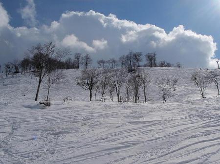 奥只見丸山スキー場 オフピステ