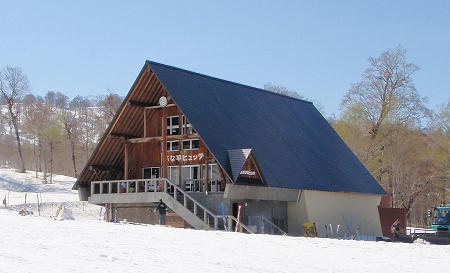 奥只見丸山スキー場 カモシカBコースの下にあるレストハウス