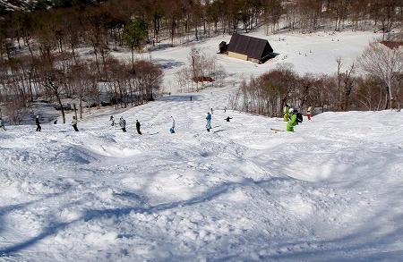 奥只見丸山スキー場 カモシカBコース下部