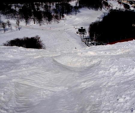 奥只見丸山スキー場 カモシカEコース_上から