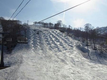 かぐらスキー場 テクニカルコース コブ