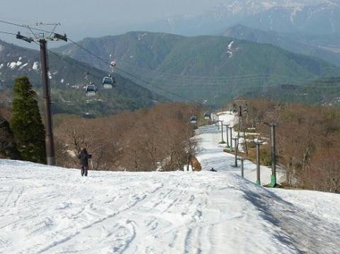 かぐらスキー場 緩斜面