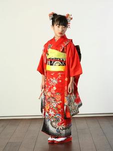 7歳女児七五三着付け込み貸衣装・群馬県高崎市