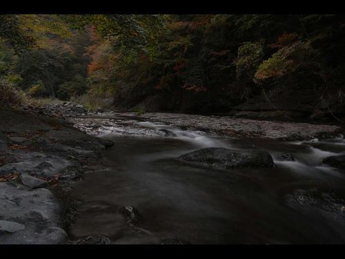 真野川渓谷、紅葉