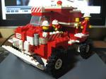 LEGO赤い車。