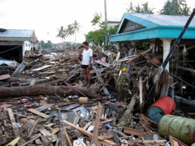 大津波による被害1