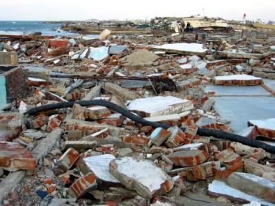大津波による被害2