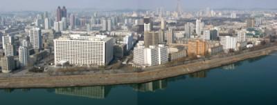 ◆平壌市中心部=2枚 1枚目