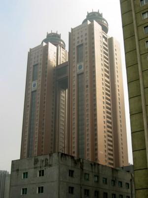 ◆平壌市中心部の高級ホテル。