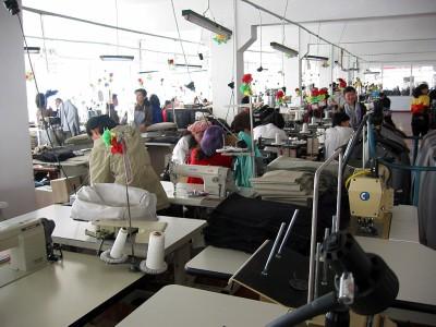 ◆平壌市郊外の縫製工場