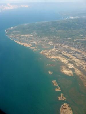 上空から見た被災直後のバンダアチェ市2