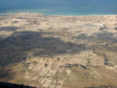 津波で洗い流され、消失してしまった農村1