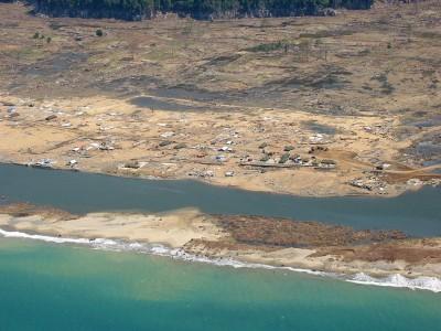津波で洗い流され、消失してしまった農村2