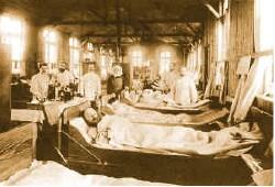 コレラ患者の隔離病棟