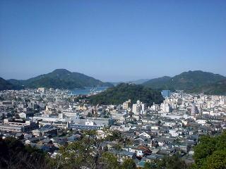 愛宕公園から見る宇和島市内