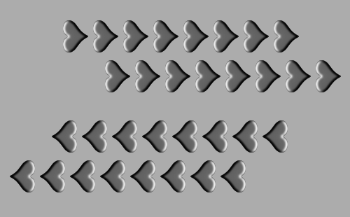 動く錯視画像(モノクロ)