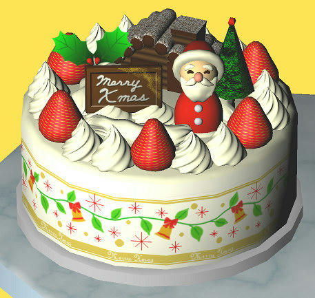3Dクリスマスケーキ