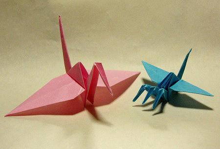 普通の鶴と比較