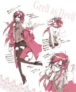 Grell as Devil