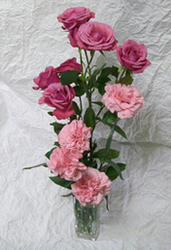 薔薇とカーネーション