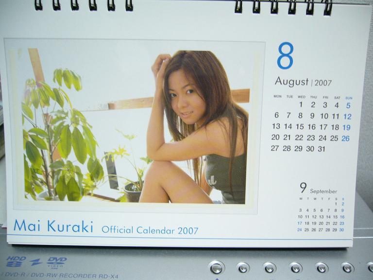 8月のカレンダーが最高!