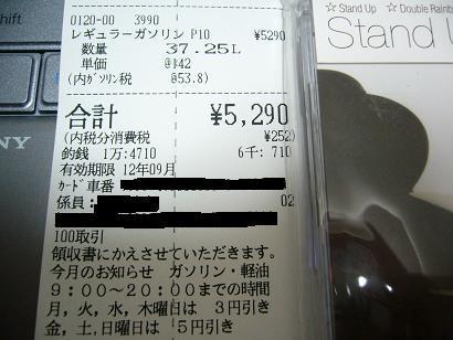 値下げ前にガソリンを入れちゃったよ(^^;