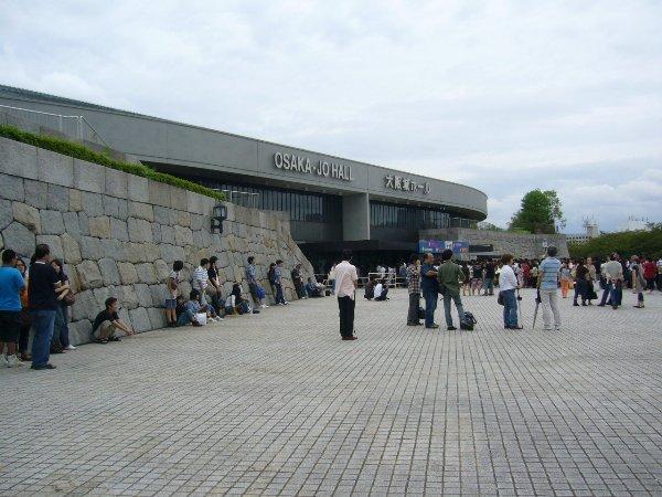 大阪城ホールに入場!