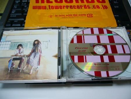 CDケースを開いた所