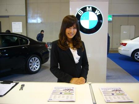BMWブースのコンパニオン!