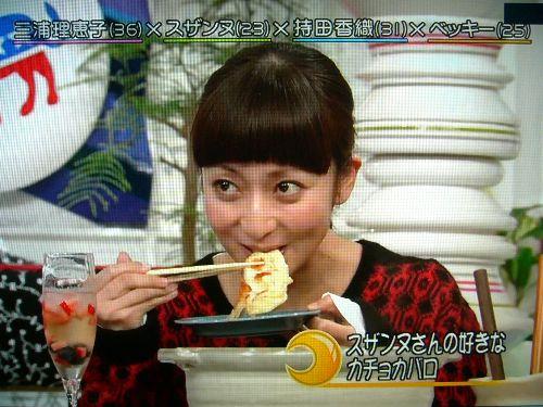 スザンヌ持参のカチョカバロを美味しそうに!