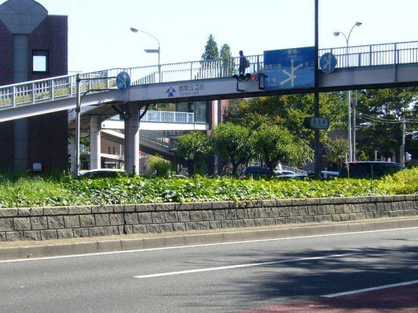 この交差t点を渡るには、地下鉄道か、この歩道橋網が便利!
