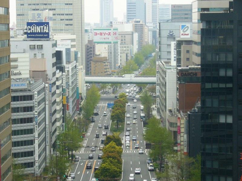 名駅から望む、栄方面