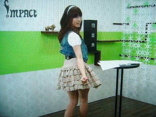 MiNoちゃんがミニスカでプチダンスを披露!