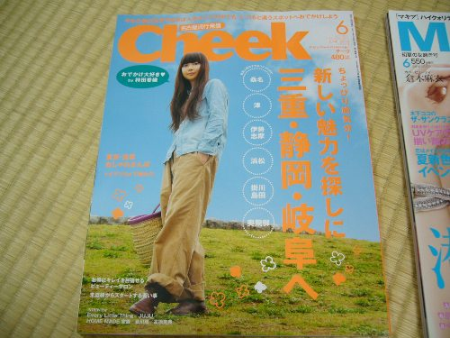 名古屋情報誌Cheek 6月号をゲット!
