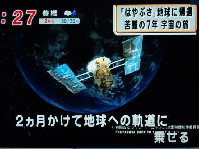 2ヶ月かけて地球への軌道に乗せる