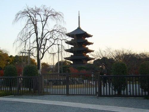 門の外から東寺をパシャ…