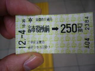 京都市役所で地下鉄に