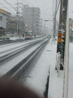 午前中から、市内は大雪…