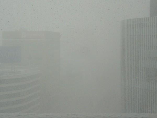 大都会の猛吹雪。。。