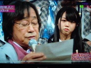 MJスペシャルで、武田鉄矢さんにお母さんの手紙を読んでもらったシーン