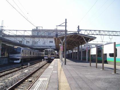 成田駅の風景