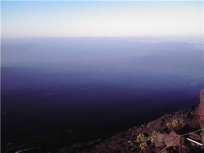 富士山から見た駿河湾
