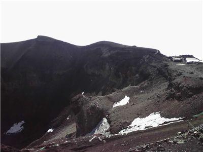 剣ヶ峰から見た富士山の火口